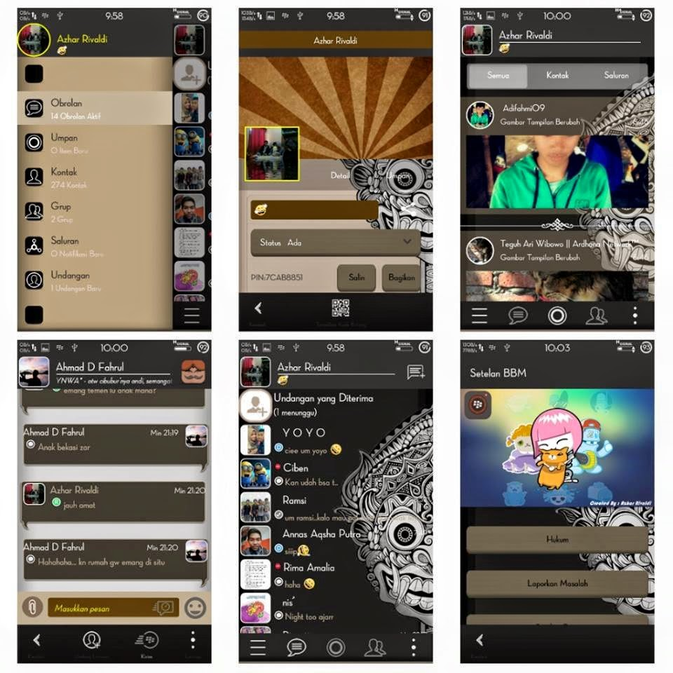 New Collection Of Blackberry Messenger BBM Modifications For