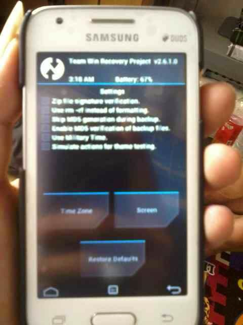 Screenshot twrp galaxy v sm-g313hz