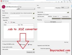 LG .Cab to .KDZ File converter